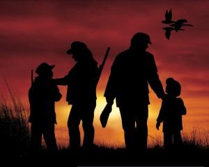 Family_Silhouette_Hunting_Scene
