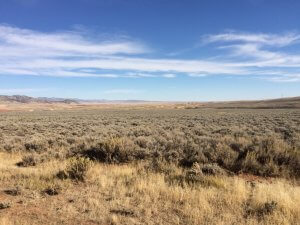Landscape near Lysite, Wyoming
